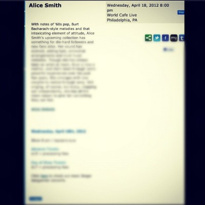 I Need A #Date ::: #alicesmith #alice #smith #worldlivecafe #philly #music #neosoul ::: 👌🎶🎵👌 (Taken with instagram)