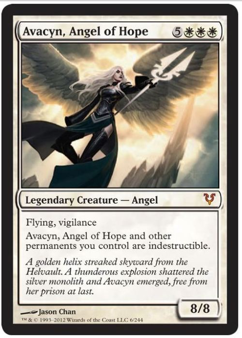New angel has been spoiled, an 8/8 flying Lady Gaga. If they print a Skrillex I'm quitting this game.