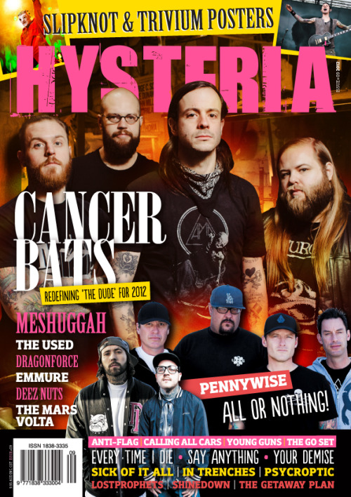 Issue #9 of Hysteria Mag on sale tomorrow featuring Deez Nuts, The Getaway Plan, Say Anything and The Used!