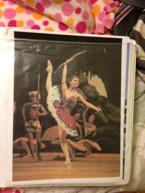 My binder cover is Svetlana Zakharova.  YES!!!