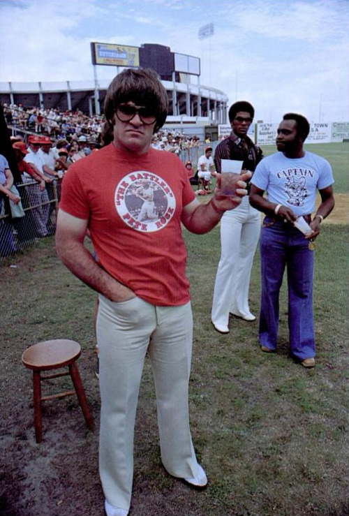 mightyflynn:  Pete Rose, ca. 1976 photographer unknown