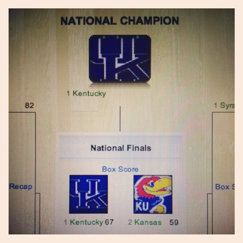 I picked a #winner #ncaa  (Taken with instagram)