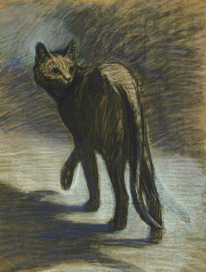 stilllifequickheart:  Théophile-Alexandre Steinlen Prowling Cat Late 19th - early 20th century