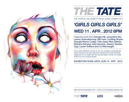 Letting you now i will be exhibiting at the TATE next wednesday for 'Girls Girls Girls!'  Come on down & meet sexy  talented ladies. hurrrr