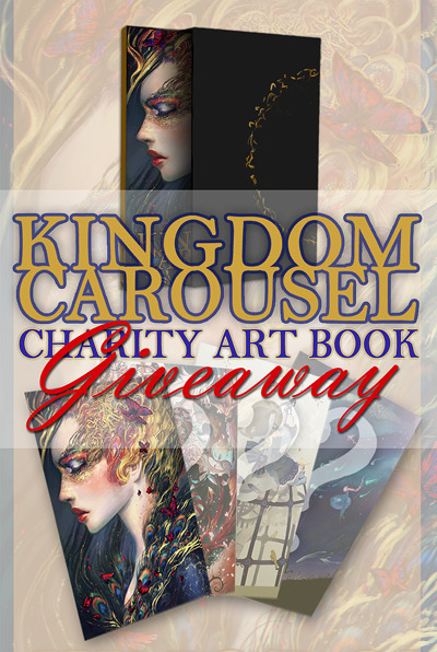 KINGDOM CAROUSEL LIMITED EDITION SIGNED PRINT GIVEAWAY!Kingdom Carousel is a charity art book that features over 100 pages of stunning illustrations from over 100 amazing artists all over the globe. 100% of all profits will be donated to St. Jude's Children's Research Hospital, a charity organization that treats illnesses (like cancer) in children whose families do not have the money to pay for treatment. The purpose of this giveaway is to raise support for the charity art book, so please pass along the word to anyone who might be interested in purchasing it! You can see previews of some of the amazing artwork in the book here: [link]. PRE-ORDER TODAY HERE. Pre-orders end May 10th 2012. What:TWO people on Tumblr can win a SET OF TWO limited edition posters of the artwork featured in the book. One of the posters you can win is show in the above image, but the other three will remain a surprise for now. How:You don't have to be following, just reblog this entire post or like this post for TWO chances to enter. (You can reblog as many times as you want, but it will only count as one.) When:The giveaway will end on May 10th, 2012. You will be contacted through your Tumblr account Ask Box (by this account) if you win. If we do not hear back from you within 3 days, we will pick another winner. Facebook Giveaway:We are also holding a second giveaway on Facebook, check it out here! Kingdom Carousel Art Book Groupsite (Facebook)