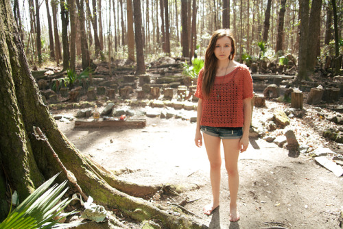 Myself in the labyrinth, at the hostel in the forest.