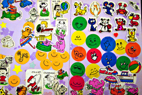"I spent 49¢ on someone's old sticker album.  There must be some way I can ""recycle"" these…"