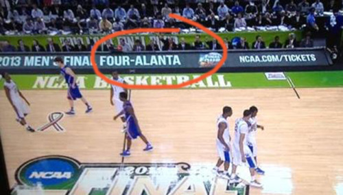 So if the NCAA can't spell Atlanta, does that mean they're banned from post-season play?
