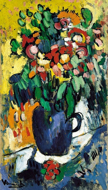 Maurice De Vlaminck Blue Vase with Flowers 1906
