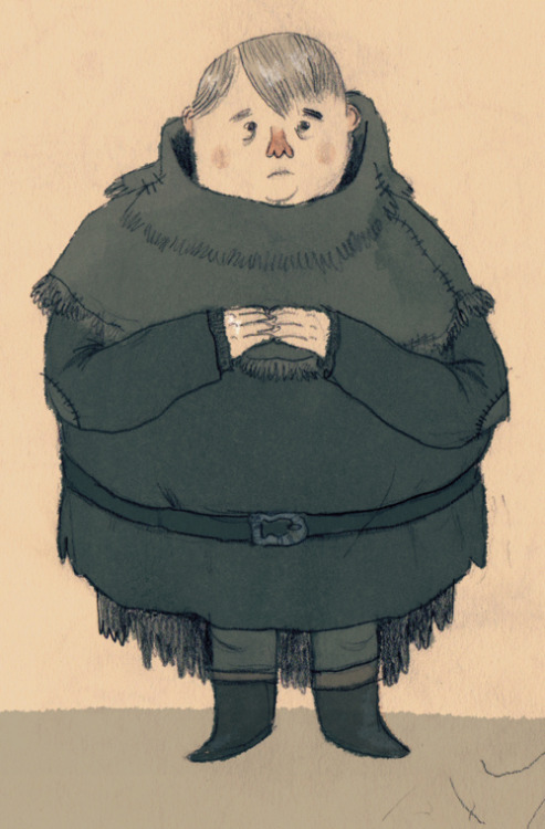 Sam Tarly from A Game of Thrones. I doodled some characters from the books recently, for you know, obvious reasons.I also baked some delicious lemon cakes yesterday. They're based on a medieval recipe, let me know if any of you want the recipe.