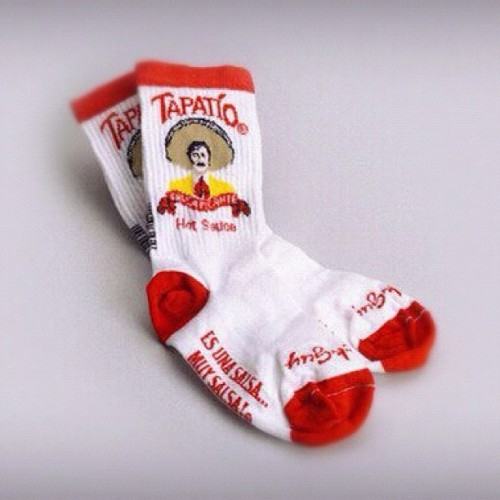I need a pair of these in my life! #Socks #Fashion #Tapatio #HotSauce   (Taken with instagram)