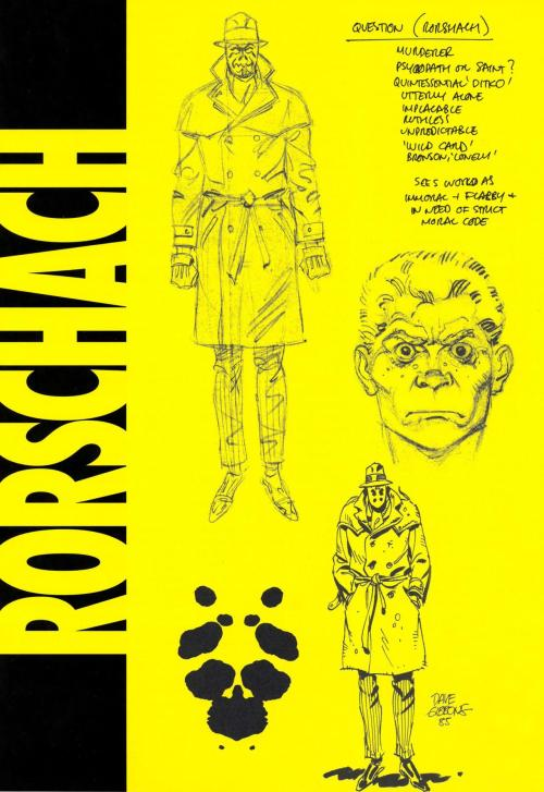 Watchmen Concept Art For Rorschach