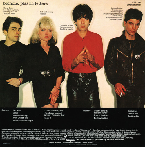 clem-burke-appreciation:  Plastic Letters  I love this album!