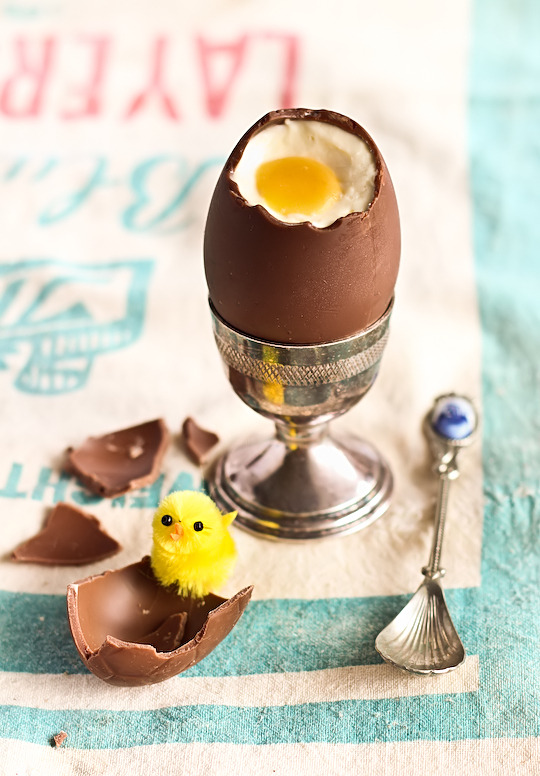 lifeliveshere:  Ummm… Dream Easter Dessert? Cheesecake Filled Chocolate Easter Eggs! I think these were created for me, my two favorite things Cadbury Eggs/Cheesecake :)