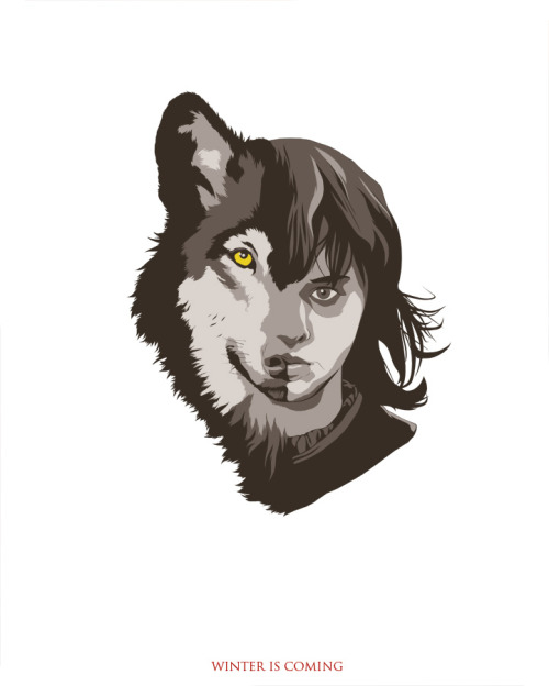 Bran Stark; the Winged Wolf. New series, gonna do about four of these… Tyrion's next. PRINT AVAILABLE HERE