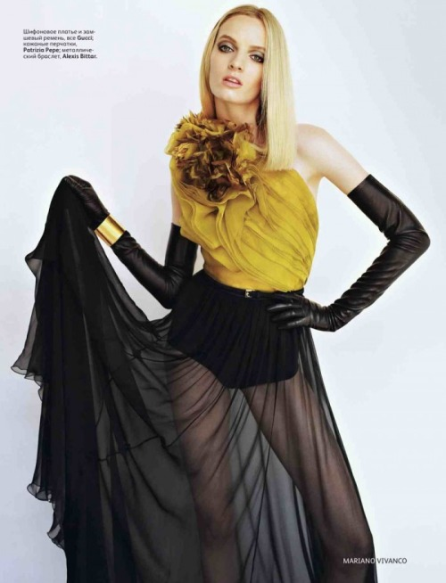 acrownofflowers:  Daria Strokous: Vogue Russia, August '11