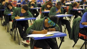"(via BBC News - Exam pressure 'undermining teacher's integrity')  Some teachers' professional integrity is being undermined by the pressure to get good exam results, a union says. The Association of Teachers and Lecturers says teachers have been forced to ""manipulate results"" and even ""re-write students' work"" to boost results.  Sounds very familiar… The teachers here in the United States teach kids below the college level only in a standardized form. I know that living in New York, everything is prepped in order to pass the state Regents. There's no single amount of wiggle room for creativity in learning the subject in question, and it is all boiled down to the hard facts necessary enough to pass standardized multiple choice questions and essay topics. That, coupled with the fact that most of my teachers weren't the most compelling educators, made my high school education dismal, at best. People point at the No Child Left Behind law for these incredibly low standards for passing school. Something like this needs to be reformed into a more acceptable method of educating kids before entering a college environment. Noting the disparity between the two as soon as I entered my first semester was an enormous feeling, and kids have to be brought up to speed before getting into a college classroom."
