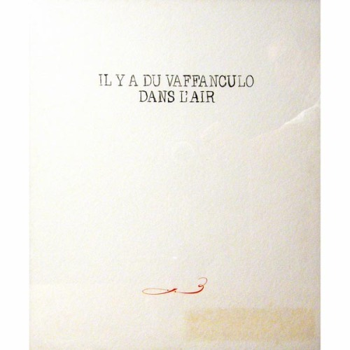 "Tuesday Anarchy. ""Il y a du vaffanculo dans l'air"" - art print by Jan Vercruysse"