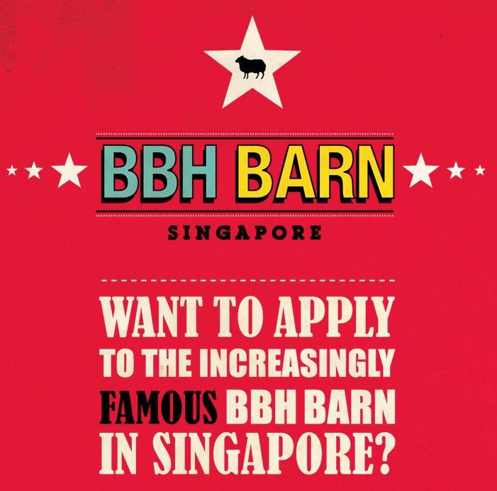 You still have some time to apply for BBH Barn Singapore