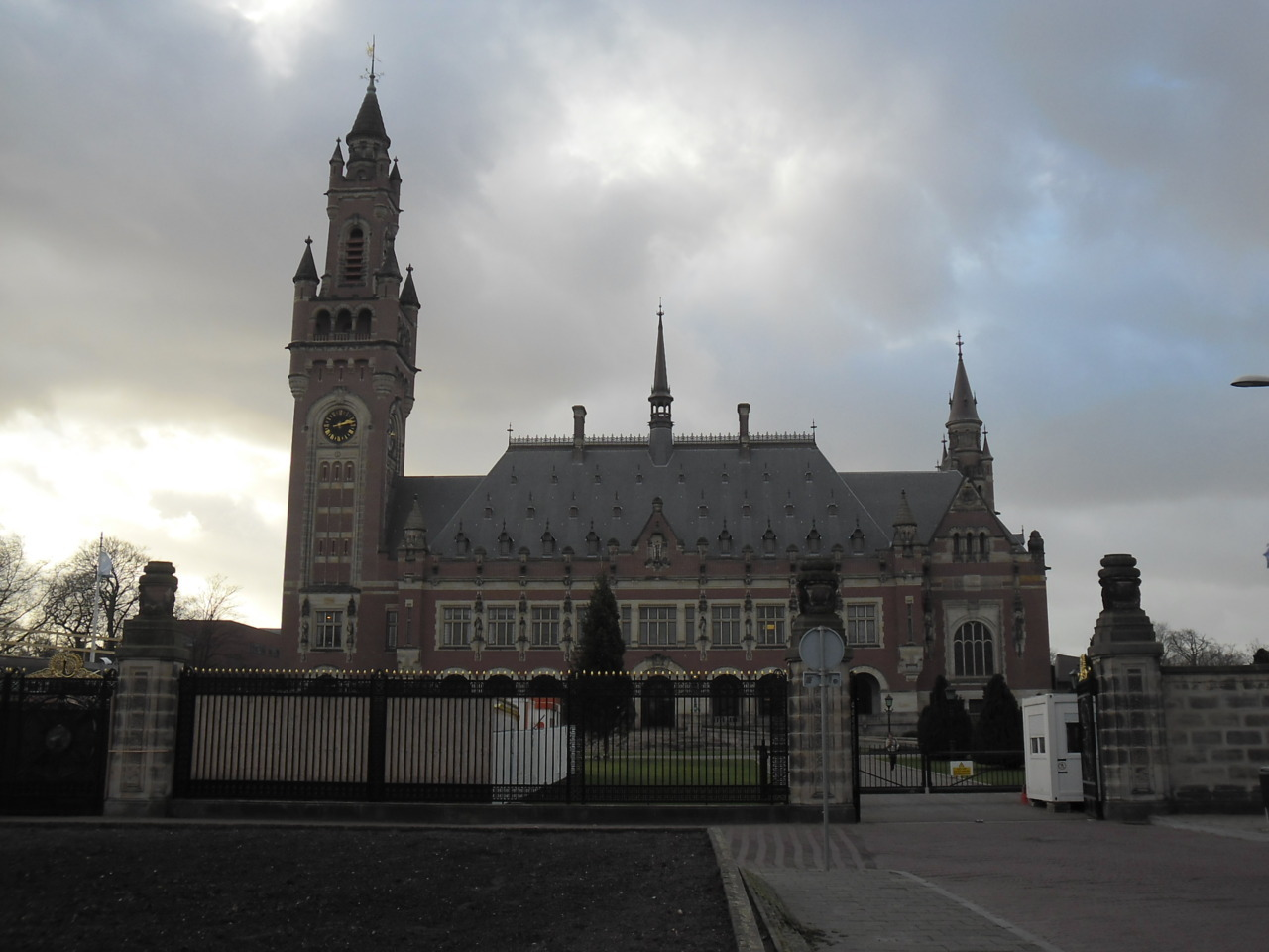 U.N. Peace Palace in The Hague (Den Haag), Netherlands. Photo taken by me, 7 December 2011.