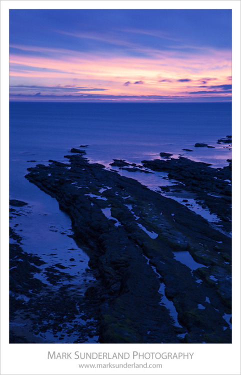 Shoreline near the Castle at Dawn, St Andrews, Fife, Scotland