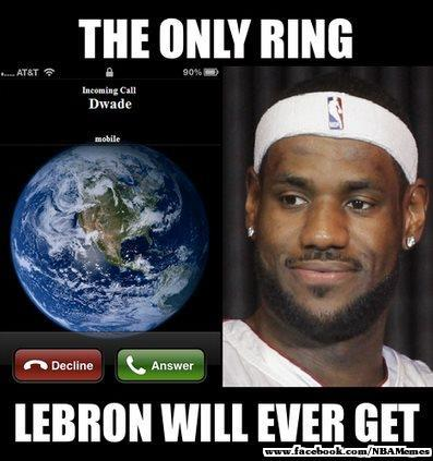 The Only Ring Lebron Ever Get