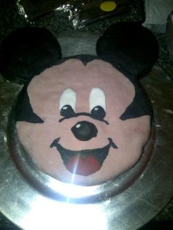 Here's your cake that Daddy made for your 2nd Birthday