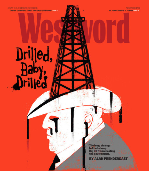 Westword, January 19, 2012Art director: Jay Vollmar, illustration: Edel Rodriguez Source: Edel Rodriguez