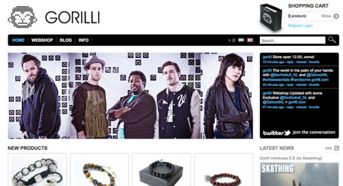 Proud to be part of the banner on www.gorilli.com and happy to be there next to the Venour boys