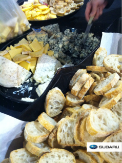 Local cheese for sampling at the Philly Farm & Food Event this weekend! That blue cheese in the background was the best ever!!!!