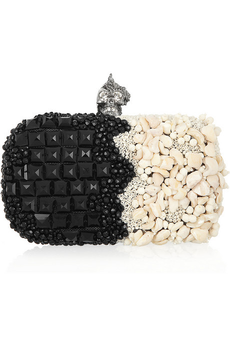 billidollarbaby:  Alexander McQueen Punk Shell embellished box clutch ($3,275)