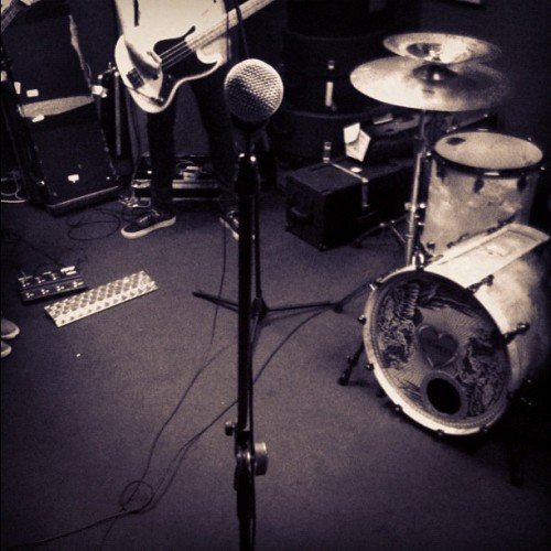 Rehearsing for next weeks shows. My view. New songssss (Taken with instagram)