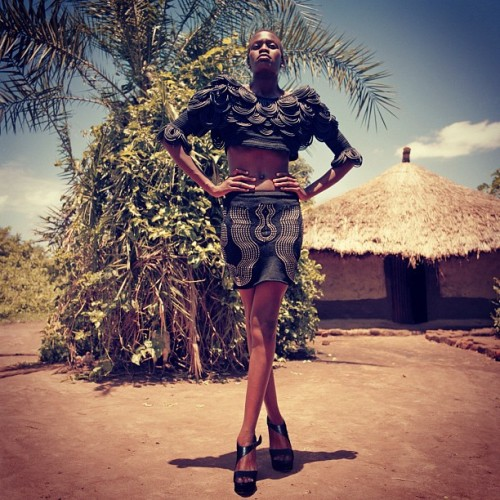 squizhamilton:  My Fashion Shoot in Africa Image5 (Uganda) (Taken with instagram)