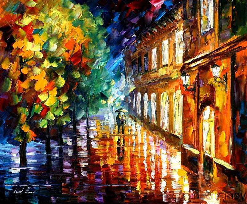 Afremov RAIN OF LOVE by *Leonidafremov