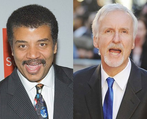 "Neil deGrasse Tyson Makes Sure 'Titanic' Is Accurate James Cameron's epic 1997 movie ""Titanic"" is about to be re-released and re-packaged in a 3D presentation to commemorate the 100th anniversary of the sinking of the ocean liner on April 15, 1912. Although few changes have been made to the movie itself, there is one tweak that will impress astronomers. Spurred on by a ""snarky"" message from astrophysicist and outspoken science communicator Neil deGrasse Tyson, Cameron has addressed Tyson's criticism that the incorrect star field was used during one of the film's most famous scenes. ""Neil deGrasse Tyson sent me quite a snarky email saying that, at that time of year, in that position in the Atlantic in 1912, when Rose (Kate Winslet) is lying on the piece of driftwood and staring up at the stars, that is not the star field she would have seen,"" said Cameron. ""And with my reputation as a perfectionist, I should have known that and I should have put the right star field in. So I said 'All right, send me the right stars for that exact time and I'll put it in the movie.'"" Tyson did just that and the correct star field has been included in the re-release. keep reading Image: Neil deGrasse Tyson (left) and James Cameron. Credit: CORBIS"