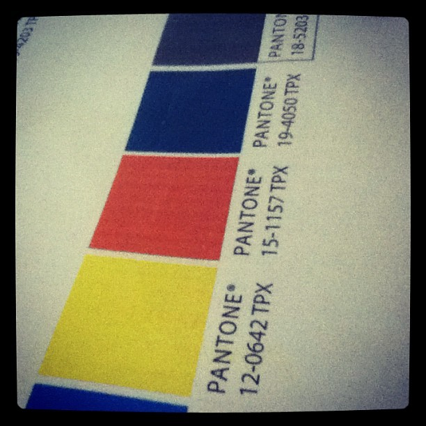 Colours for my latest project (Taken with instagram)