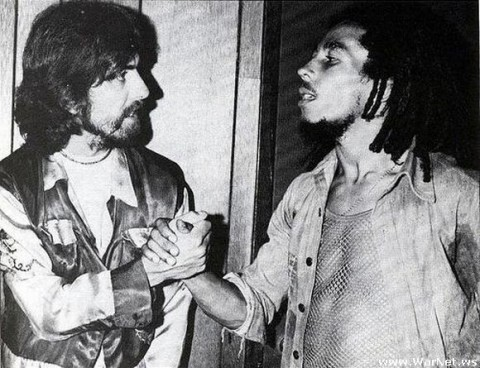 doctortaco:  George Harrison and Bob Marley