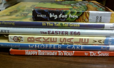 beefarmer:  My attempt at book spine poetry with books I had at my desk. Happy National Poetry Month!