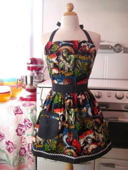 collection of cute aprons like this horror movie one (which is my favorite)