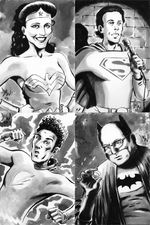 (via Super Punch: The cast of Seinfeld as DC super heroes)