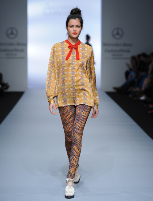 Prints clash at seamlessly at Alejandra Quesada, Mercedes-Benz Fashion Week Mexico