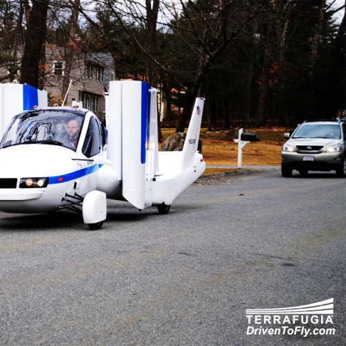 "Flying cars: How one company is prototyping ""the future"" More tests are needed, but Terrafugia is on the right track: It's not quite ready yet, but engineers have been hard at work perfecting the world's first flying car. The ""Transition Street-Legal Airplane"" is expected to be released in 2013. ""With this flight, the team demonstrated an ability to accomplish what had been called an impossible dream,"" said Terrafugia CEO and CTO Carl Dietrich. According to Computer World, the ""Transition's first flight reached an altitude of 1,400 feet above the ground and lasted eight minutes."" source Follow ShortFormBlog"
