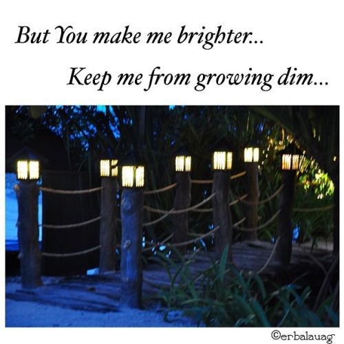 "#photoandlyrics :   But You knew me better. For You there was never a doubt. God, since You gave me life Something was different, I knew it the instant. You put the light in me.  This spark is shot to the heart. You are the hope that leads me out of the dark. You let Your love shine down. So that the world could see, You put the light in me.  The light, You put the light in me…  ~ ""The Light in Me"" by Brandon Heath   