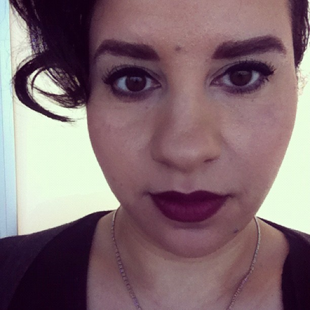 eamesismydaddy:  Lipstick of the Day: NARS' Damned. (Taken with instagram)
