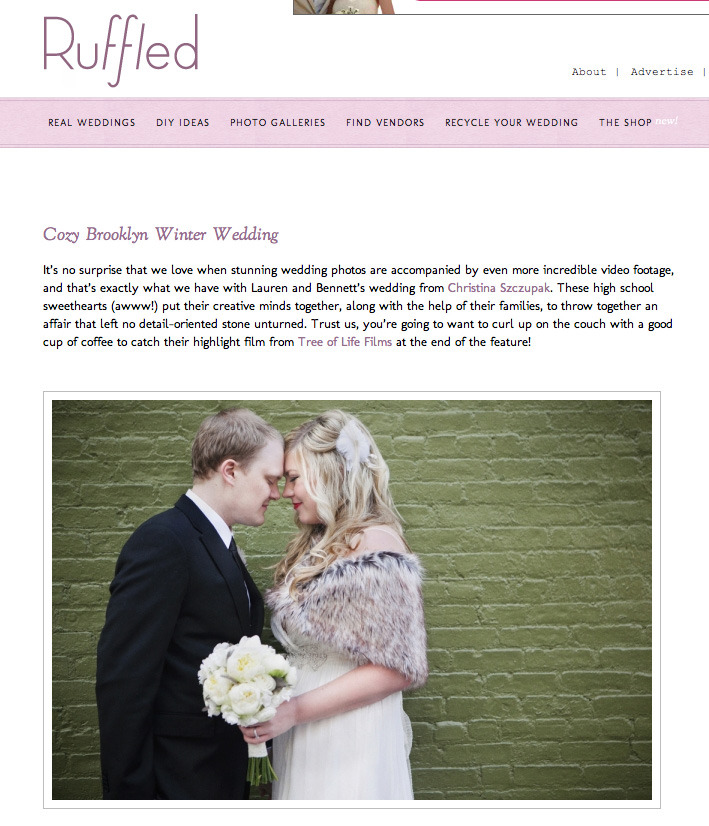 Our wedding's featured on Ruffled today! <3