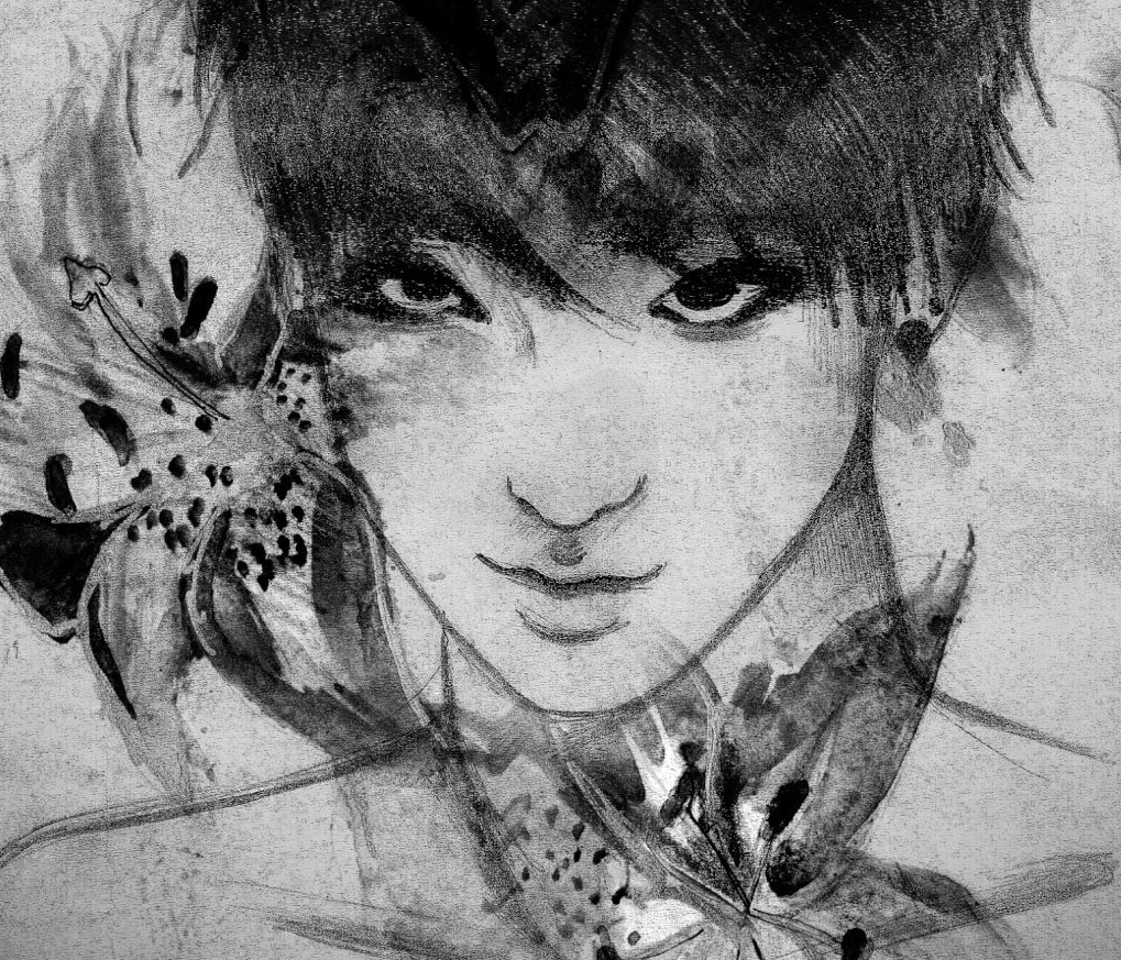 """flower boy"" - EXO's Tao (monochrome version) → for original tao fans kawaiine & chanshique"