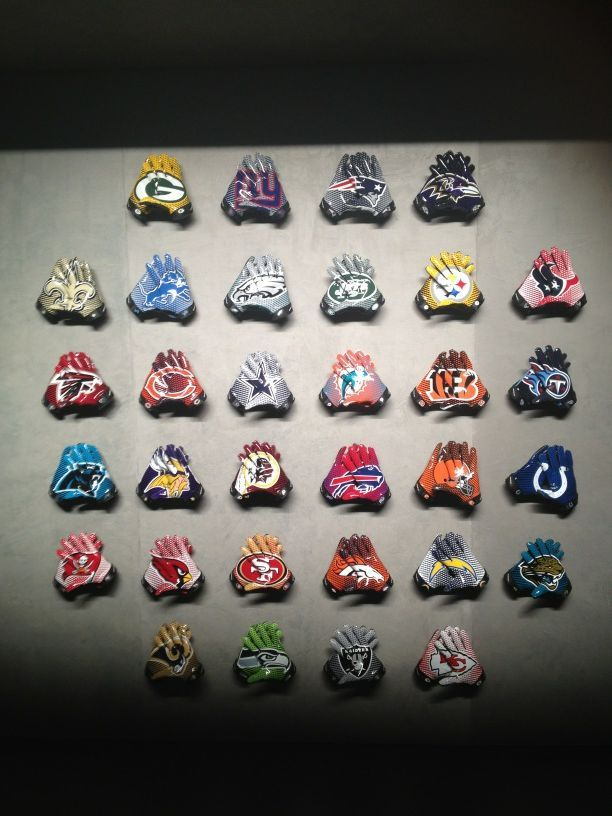 nfloffseason:  Here's a look at all the gloves for each team in the league. The Browns are pretty funny.