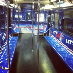 Inside the Rangers playoff train (Taken with instagram)