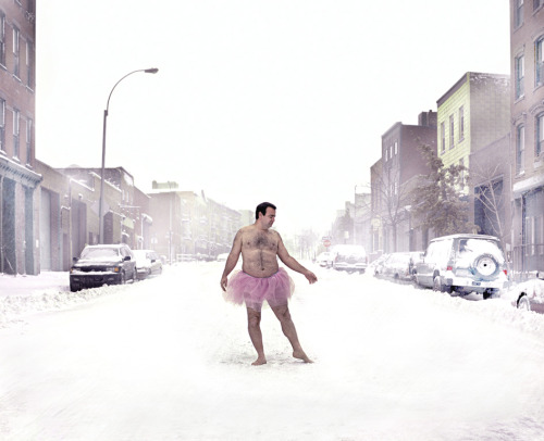 wired:  Photographer Bob Carey poses for self-portaits in a tutu to raise money for breast cancer research.  Check out a gallery of his pictures over at Raw File. I mean, who doesn't love a hairy mostly-naked man in pink?