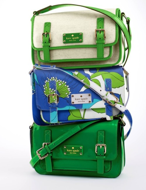 I love Kate Spade handbags because of the colors she uses. Kate Spade is very girly and preppy, but she counteracts that with bright primary colors like the ones shown in this picture, LOVE! Shop discounted Kate Spade here!